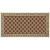 Reversible Mats 119187 Brown/Beige 9'x18' RV Patio Mat