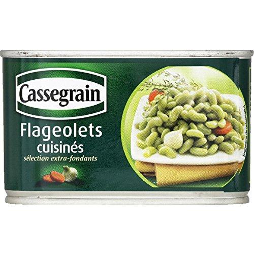 Cassegrain - Flageolets extra-fins cuisinés - La boîte de 265g - (pour la quantité plus que 1 nous vous remboursons le port supplémentaire)
