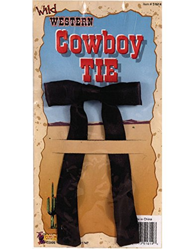 Black Western String Tie - One Size - 1