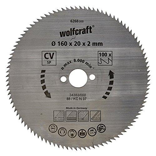 wolfcraft-6268000-disco-de-sierra-circular-cv-100-dient-serie-azul-oe-160-x-20-x-2-mm
