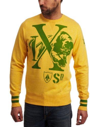 Ringspun Prowler Mens Sweatshirt Yellow/Green Small