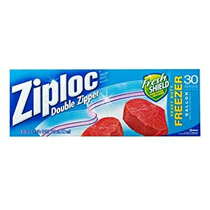 Ziploc Freezer Bag, Gallon Value Pack, 30-Count