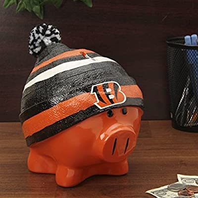 Cincinnati Bengals Official NFL 13 inch x 10 inch Piggy Bank Large Hat by Forever Collectibles 736099