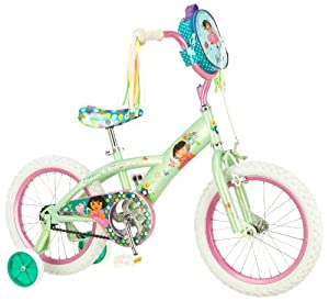 Dora Bicycle (16-Inch, Mint/Pink)