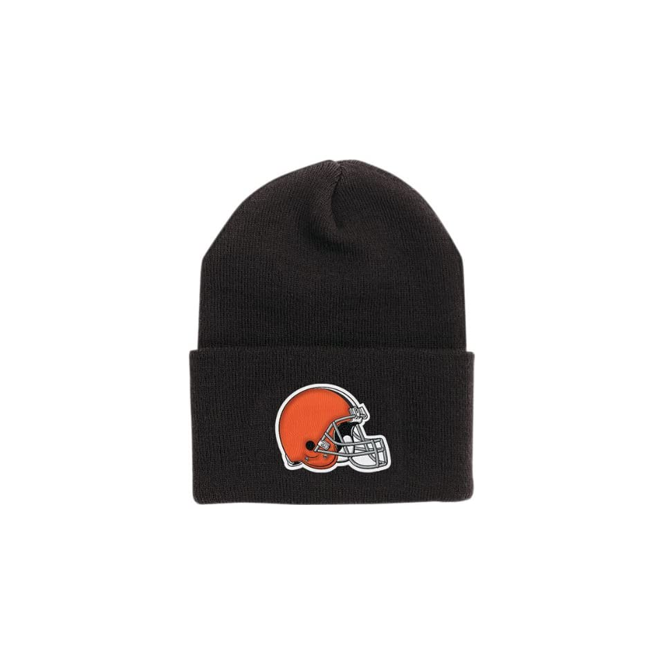 aa4365f5a8d Cleveland Browns Brown Cuffed Knit Hat on PopScreen