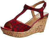 Pavers England Women's Red Fashion Sandals - 6 UK/39 EU