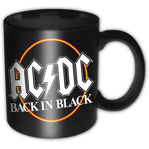 AC DC Back In Black cerchio logo premio tazza di caffè in scatola ufficiale