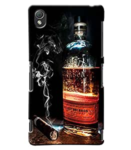 Clarks Whisky Inspired Hard Plastic Printed Back Cover/Case For Sony Xperia Z3