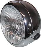 MOTOLODGE Headlight Round Chrome Complete 6