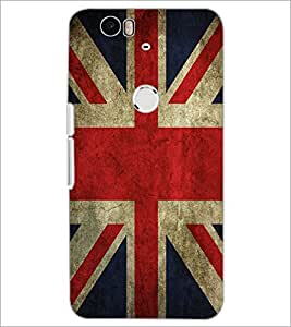 PrintDhaba UK Flag D-2046 Back Case Cover for HUAWEI NEXUS 6P (Multi-Coloured)
