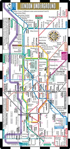 Streetwise London Underground Map - The Tube - Laminated London Metro Map - Folding pocket & wallet size metro map f