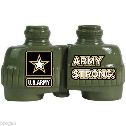 Us Army Strong Binoculars Salt & Peppers Shakers Set Westland