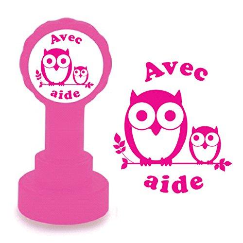 xclamations-tampon-auto-encreur-pour-enseignant-avec-aide-couleur-rose-design-de-hibou-mignon