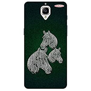 Tree Horsey - Mobile Back Case Cover For One Plus 3