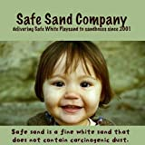 Safe Sand for Sandbox / Natural White Playsand 25 pound box