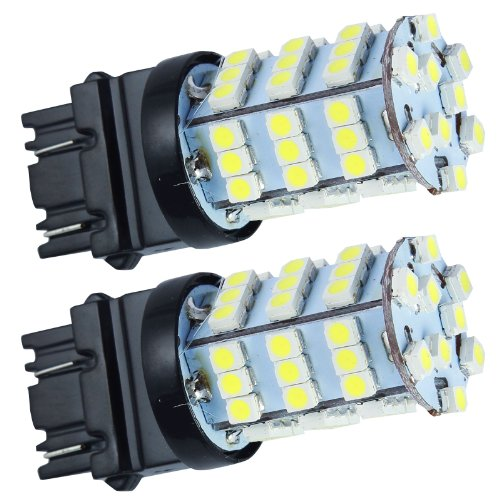 Quickfitled (2 Pieces) Pair Direct Fit 54-Smd Led Car White Reverse Tail Back Up Lights For 3156 3157 3057 3757 4114 4157 T20