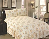 4PCs SUN YELLOW COMPLETE BEDDING SET - Duvet Quilt, 2 Pillow Cases AND Valence Sheet Bedding Set in Size KING ALL NEW