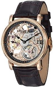 Stuhrling Original Men's 9460G.3345K1 Classic Delphi Avon Mechanical Skeleton Rose Tone Watch