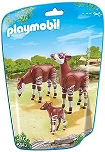 Amazon.com: PLAYMOBIL Okapi Family Building Kit: Toys & Games