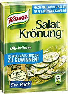Knorr Salat Kronung Dill-Krauter (Salad Herbs and Dill), 5-Count Packets from Knorr