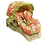 Hot Toddies Infant Car Seat Cover Emma Swirl Pink ~ Hot Toddies Baby Gear