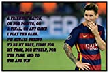 Styzzy Lionel Messi Quotes Poster - FC Barcelona Football Team Poster Paper Print -4