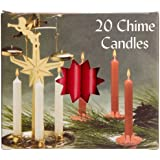 Biedermann & Sons Chime Or Tree Candles 20 Count Box, Red