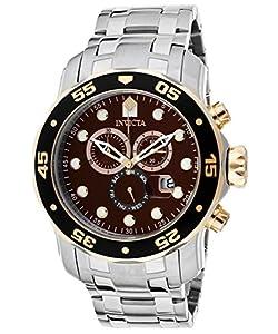 Invicta Men's 80045 Pro Diver Analog Display Swiss Quartz Silver Watch