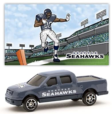 Seattle Seahawks 2007 Upper Deck Collectibles NFL Ford F-150 Pickup Truck with Sticker