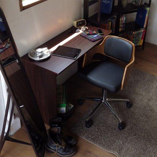 1メーター幅ワイド シンプルウッドデスク ダークブラウン パソコンデスク ワークデスク