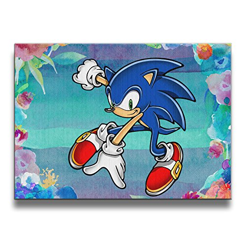 [ASCHO2 Sonic The Hedgehog Frameless Art Photo Frame Picture Frame - Display Photo Home Wall Art Decor For Home Living Room Office Or] (Persona 4 Dancing All Night Costumes)