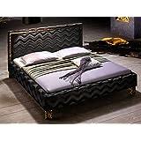 Polsterbett Casadero Bett 180x200cm schwarz Stoffbezug Doppelbett Ehebett Designerbett Gästebett