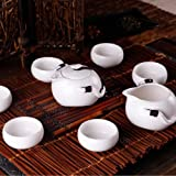 Ufingo-White Color Chinese Antique Cool Ceramic Tea Set Tea Service