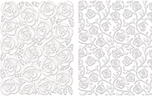 Spellbinders M-Bossabilities A2 Card Embossing Folder-Cabbage Rose