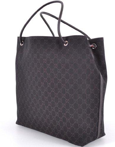 Gucci Большие Монограммой Логотипа Коричневый Гиффорд Жаккардовые Тотализатор Мешок Покупателя