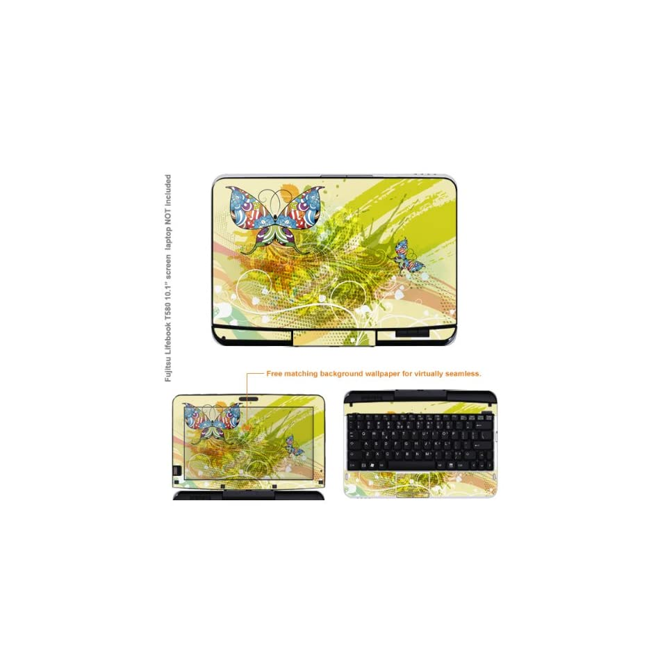 Protective Decal Skin Sticker for Fujitsu Lifebook T580 case cover T580 100 Electronics