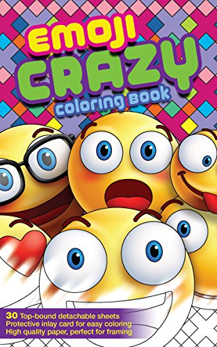 Emoji Crazy Fun Adult Coloring Book and Teens Coloring Book 30 Emoji Themed Pages Waiting to be Colored (Travel Size) (The Devils Candy compare prices)