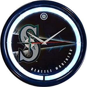 Seattle Mariners Plasma Neon Clock by Authentic Street Signs