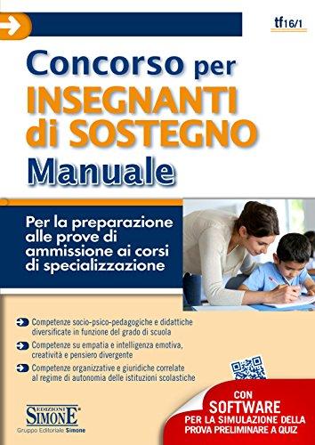 ebook concorso per insegnanti di sostegno manuale