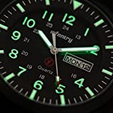 INFANTRY Men's Military Army Sport Quartz Luminous Analog Wrist Watch Black Nylon Strap #IN-044-BLK-N