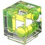 Burbuja triple Polaroid  para zapata tres ejes  Mide nivel  para Canon y Nikon Digital y Cámaras de película