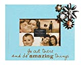 C.R. Gibson Treasured Tabletop Photo Frame, 4 by 6-Inch, Do Amazing Things