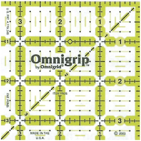 Omnigrip Neon Quilters Ruler - 3-1/2 Inch x3-1/2 Inch