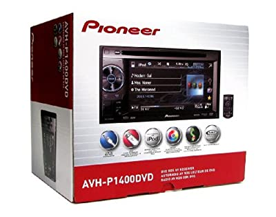 Pioneer AVH-P1400DVD Mobile 2-DIN Multimedia DVD Receiver with 5.8 In. Widescreen Touch Display and USB Direct Control for iPod/iPhone from PIONEER CAR