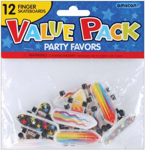 Party Favor 12-Pack: Finger Skateboards