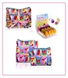 LADIES RETRO ICE-CREAM WASH-BAG & MAKE UP BAG GIFT SET & LIPGLOSS CHRISTMAS GIFT FOR GIRLS & HER