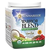 Sunwarrior - Warrior Blend, RAW Plant Based Protein, Vanilla, 20 Servings (1.1 lbs) (FFP)