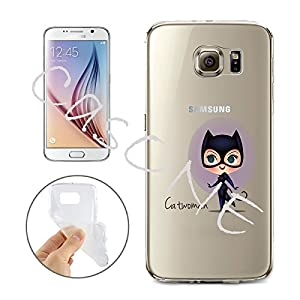 Batman, Catwoman, Harley Quinn, Wonder Woman, Superman, Spider Man, The Hulk, Deadpool Jelly Clear Case for Samsung Galaxy S7 EDGE at Gotham City Store
