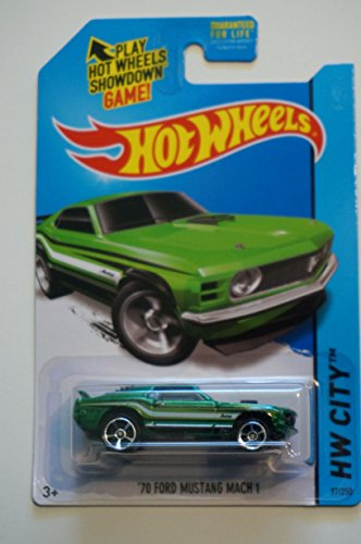2014 Hot Wheels Custom Real Riders Hw City '70 Ford Mustang Mach 1 - Green