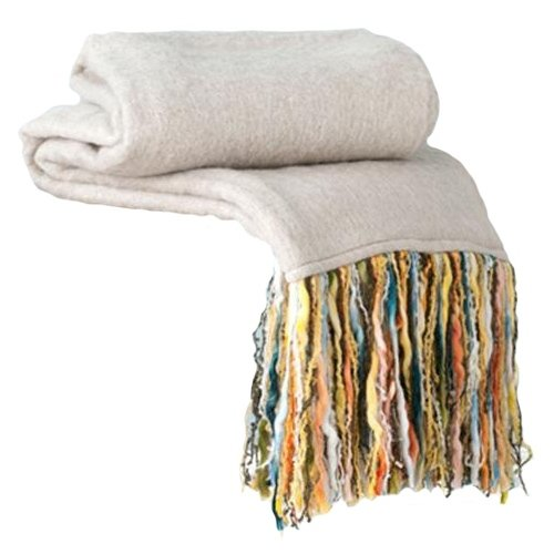 Shiraleah Fab Throw Blanket, Ivory front-283892